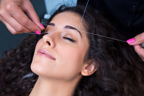 6. eyebrow threading