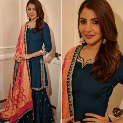 Kurti with Skirts for Indian Festivals- Anushka Sharma