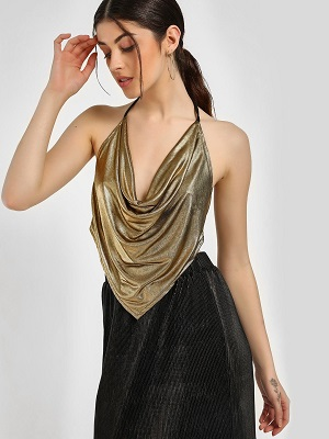 metallic-Saree-blouse-alternative