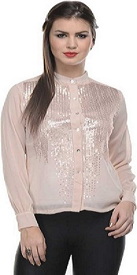pink-embellished--Saree-blouse-alternative
