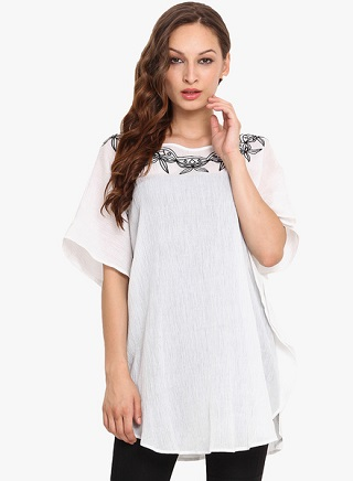 10 affordable white kurtis