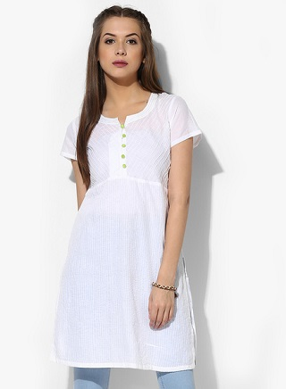 11 affordable white kurtis
