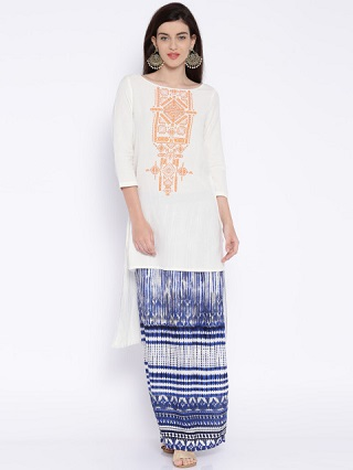 12 affordable white kurtis