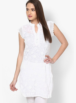 13 affordable white kurtis