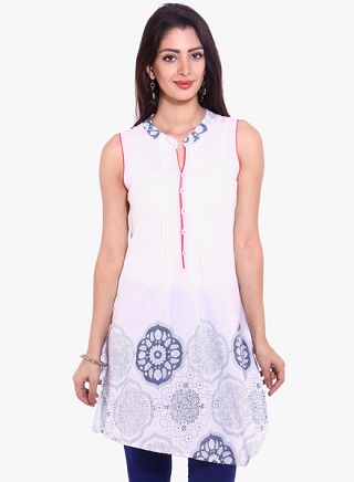 14 affordable white kurtis
