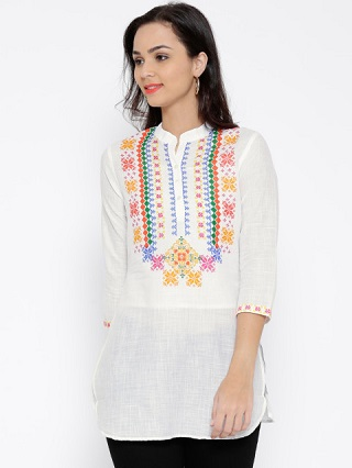 15 affordable white kurtis
