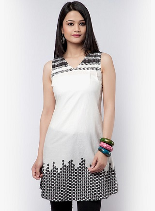 2 affordable white kurtis