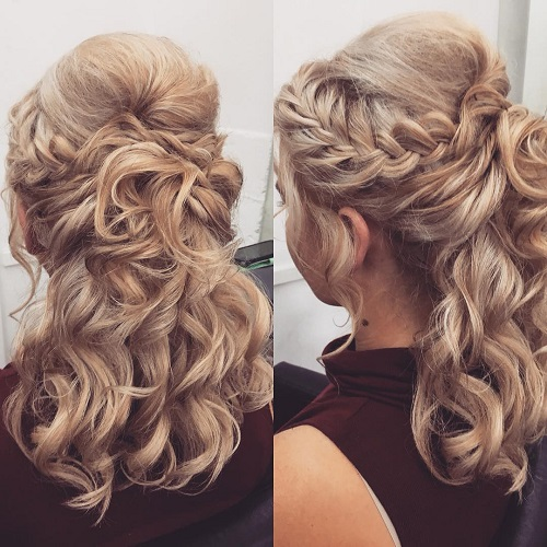 2 bridal hairstyles for curly hair