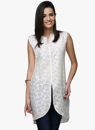 4 affordable white kurtis