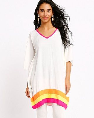 5 affordable white kurtis