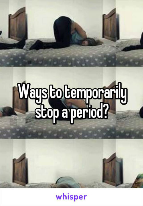 5 thoughts during period