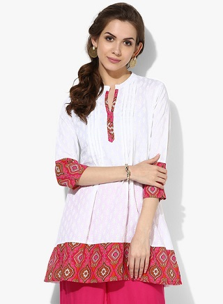 7 affordable white kurtis