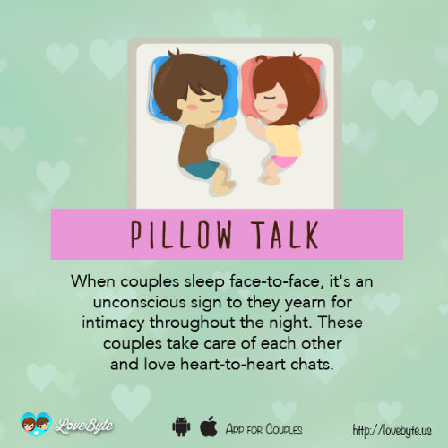 8 sleeping style with boyfriend means