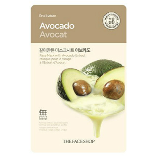 6 face packs for glowing skin - The Faceshop Real Nature Avocado