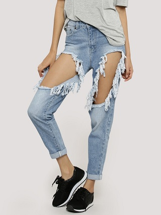 7 ripped jeans
