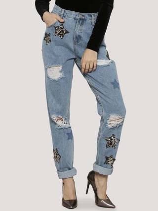 8 ripped jeans