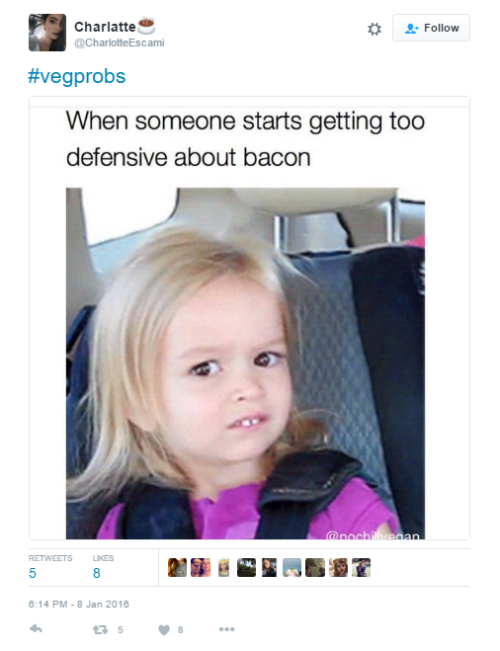 9 funny tweets about vegetarians
