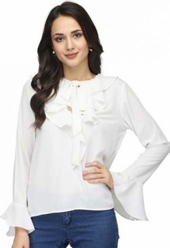 Bell-Sleeve-White-Top-tops-for-college-girls