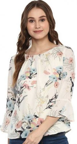 Fancy-Florals-tops-for-college-girls