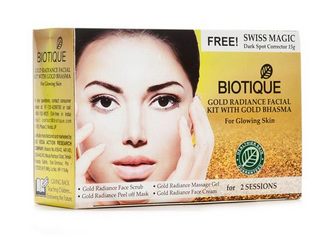 Biotique Bio Gold Radiance Facial Kit with Gold Bhasma 75 gm