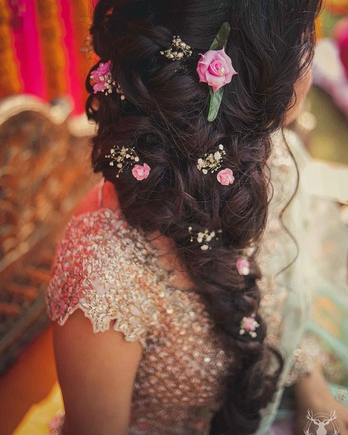 1 bridal hairstyles with flowers