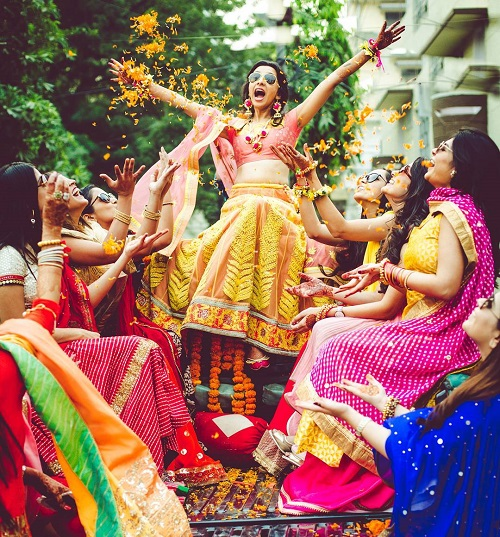 10 bridesmaids for an indian wedding