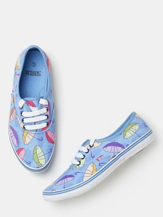 2 printed sneakers for college girls