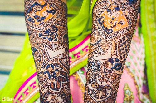 3 tell your love story with your bridal mehendi