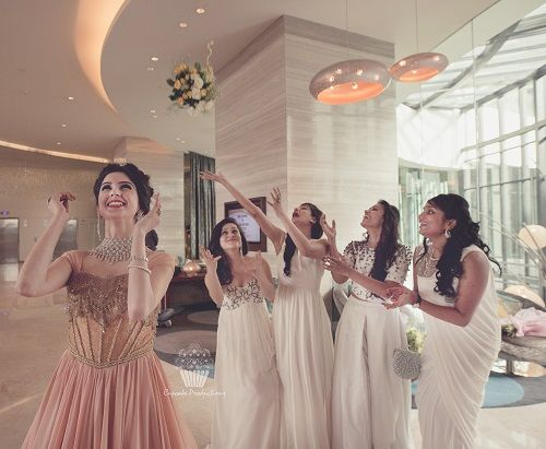 4 bridesmaids for an indian wedding