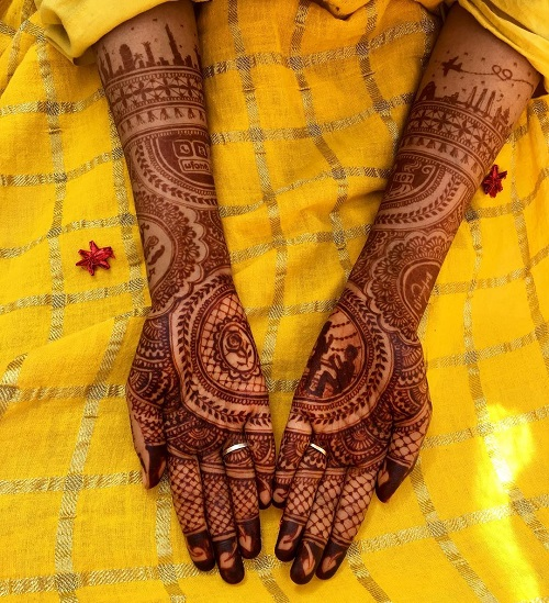 4 tell your love story with your bridal mehendi