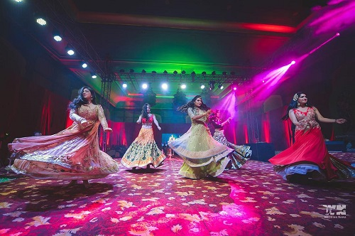 5 bridesmaids for an indian wedding