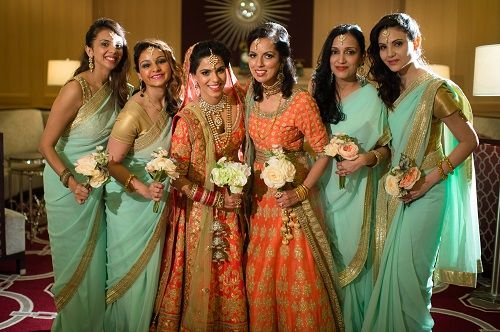 6 bridesmaids for an indian wedding