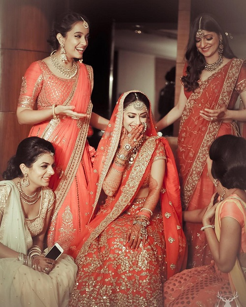 8 bridesmaids for an indian wedding