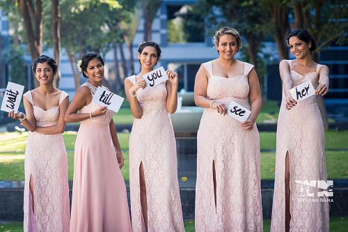 9 bridesmaids for an indian wedding