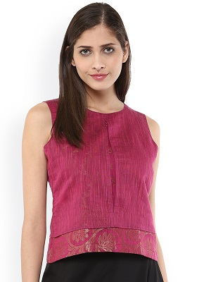 pink-perfection-Indo-western-crop-top