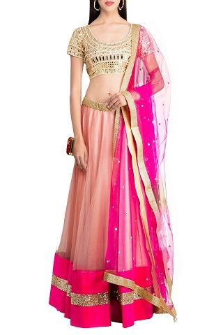 2 lehengas for your mehendi ceremony