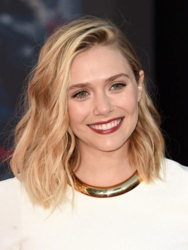 9-haircut-for-women-elizabeth-olsen-messy-lob