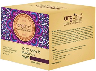 hair-masks-for-dry-and-damaged-hair-Aryanveda By Arganic 100% Organic Moroccan Argan Hair Mask