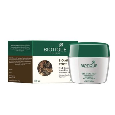 hair-masks-for-dry-and-damaged-hair-Biotique Musk Root Fresh Growth Nourishing Treatment Pack