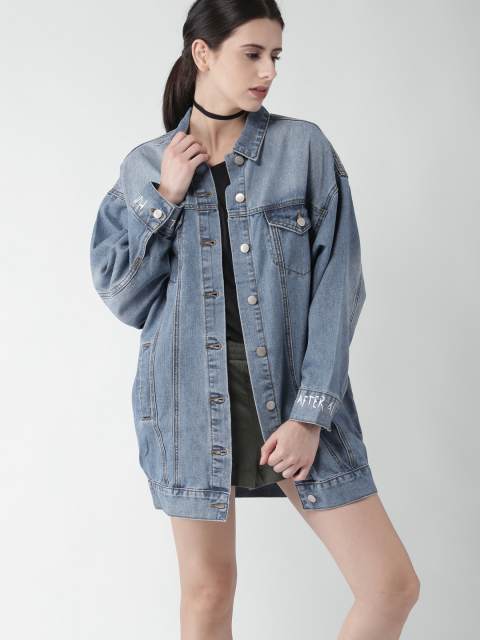 9- fashion trends - oversized denim jacket