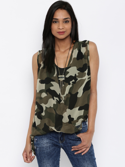 8 summer top army top