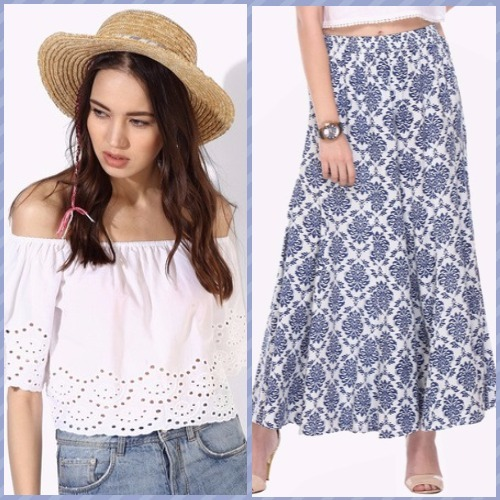 2-bachelorette party outfits-forever 21 crop top varanga palazzo