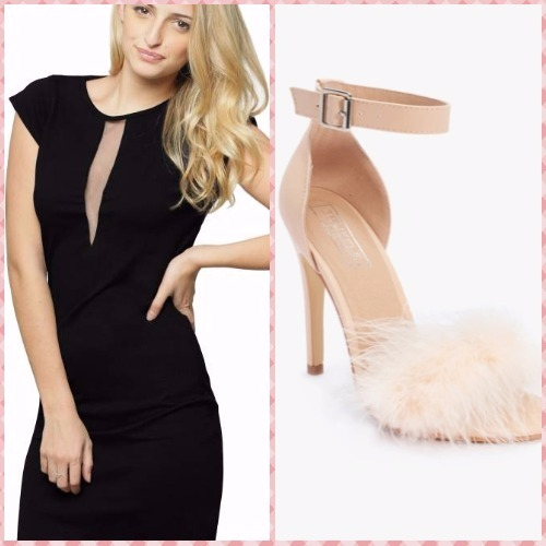 9-bachelorette party outfits-miss chase dress truffle collection sandals