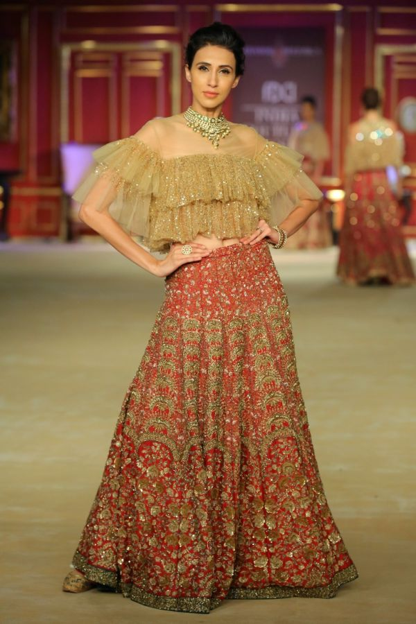 11-designer outfits-red lehenga