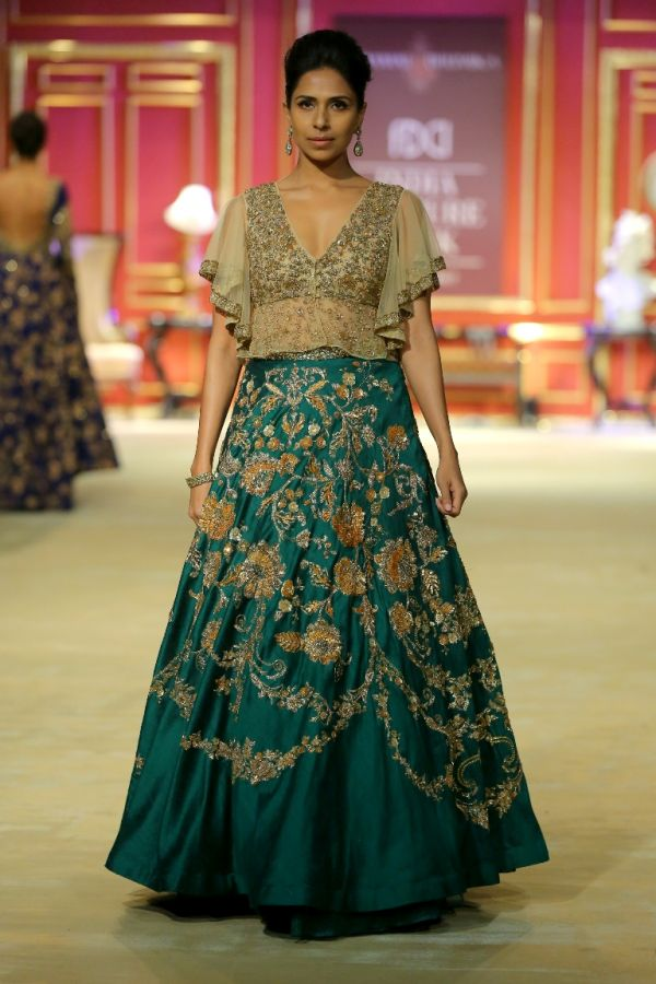 12-designer outfits-teal green lehenga
