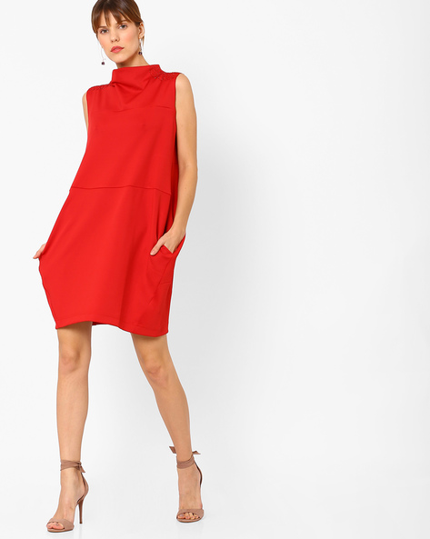2 party dresses - Panelled Dress with Embellished Shoulders