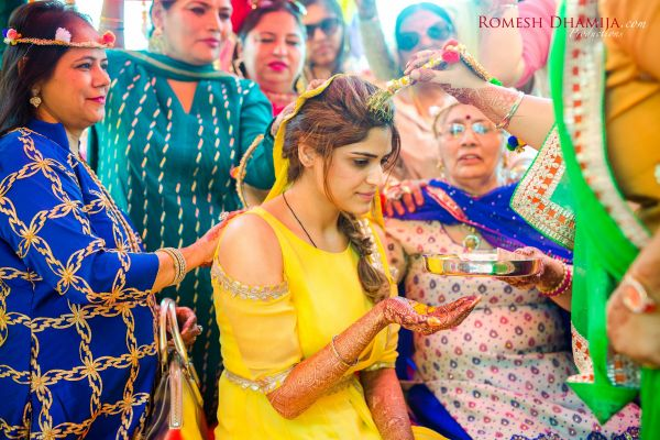 real wedding in goa bride taran haldi