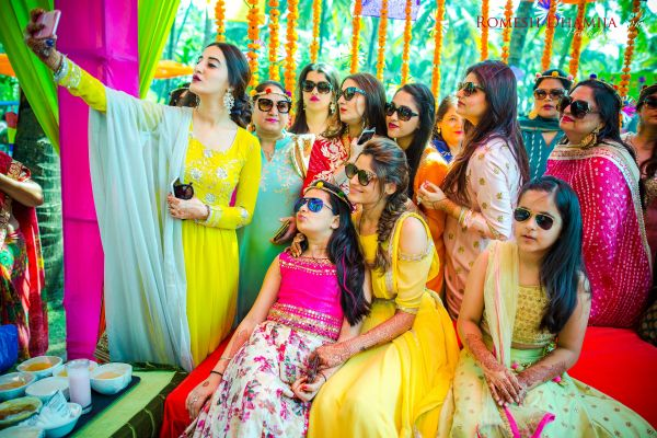 real wedding in goa girl gang