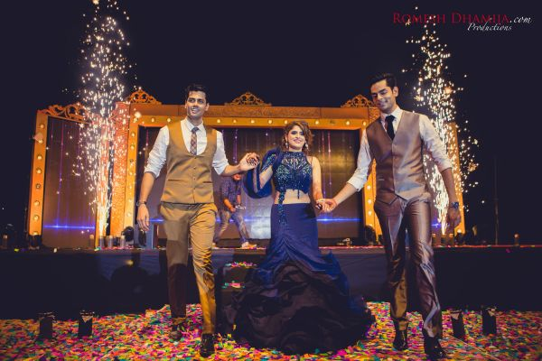 real wedding in goa sangeet night