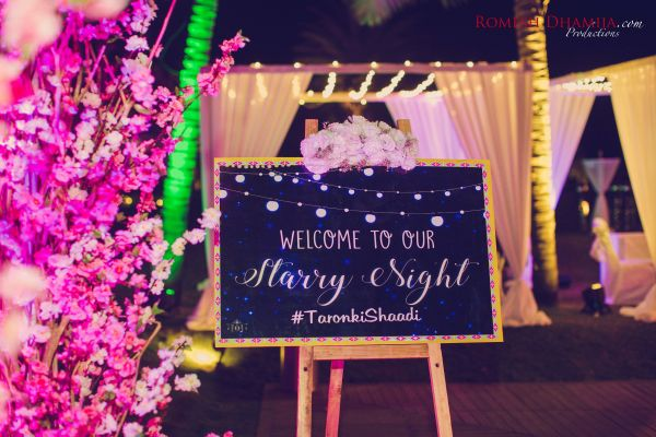 real wedding in goa signboard